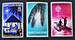 GILBERT & ELICE - NÖEL 1971 - NEUFS ** - YT 185/87 - MI 185/87 - Oceania (Other)