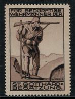 Suisse /Schweiz/Switzerland // Vignette Militaire // Festungstruppen (1914-1918) Gotthard-Besatzung - Poste Militaire