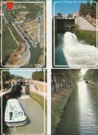LE  CANAL  DU  MIDI  -  LOT  DE  14  CPM  DIVERS LIEUX( 20 / 9 / 286 - Languedoc-Roussillon
