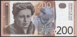 YUGOSLAVIA 157a - 200 Dinara 2001 AUNC ! - Yugoslavia
