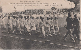 CPA VIII ème OLYMPIADES PARIS.DEFILE ATHLETES FEMMES DEVANT LA TRIBUNE OFFICIELLE - Juegos Olímpicos