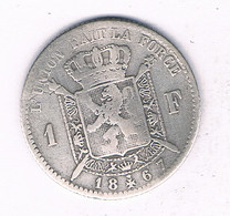 1 FRANC 1867  BELGIE /7485/ - 1865-1909: Leopold II