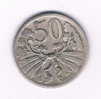 50 HALLER  1922  TSJECHOSLOWAKIJE /7491/ - Czechoslovakia