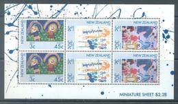 NEW ZEALAND - MNH/** - 1986 - HEALTH - Yv Bloc 53 Mi 968-970 SG MS1403 Sc B126a  - Lot 22032 - Blocs-feuillets