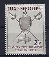 Luxembourg - Luxemburg - Timbres 1954  Championnat Du Monde D'Escrime / Fechten MNH ** KW 5,50 - Blokken & Velletjes