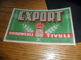 1 Oud Belgisch Bieretiket Belgie Tivoli Antwerpen - Bière
