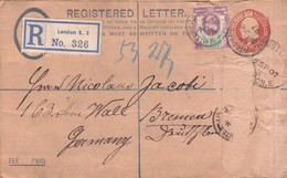 GREAT BRITAIN - RECO 1907 LONDON > BREMEN /AS209 - Briefe U. Dokumente