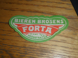 1 Oud Belgisch Bieretiket Belgie Forta Hoogstraten - Bière