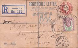 GREAT BRITAIN - RECO 1907 LONDON > BREMEN /AS210 - Briefe U. Dokumente