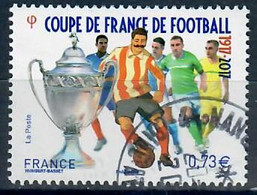 YT 5145-6 Coupe De France De Football Cachet Rond - Used Stamps