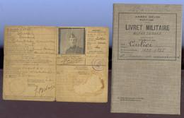 Lot Livret Militaire + Carte Identité Militaire - Dokumente