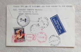 Busta Di Lettera Raccomandata Per Via Aerea Da Cervia Per Il Canada FDC Europa 29/04/1975 - Marcofilia - EMA ( Maquina De Huellas A Franquear)
