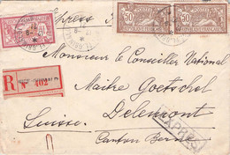 FRANCE - RECO/ESPRÉS 1921 NICE - DELMONT/SUISSE /AS212 - Briefe U. Dokumente
