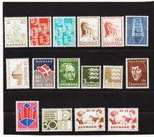 22E886 DÄNEMARK 1969  Michl 474/89 ** Postfrisch  ZÄHNUNG SIEHE ABBILDUNG - Nuovi