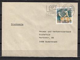 BRD; MiNr. 1592, Sporthilfe: Olympische Spiele, Fechten , Auf Portoger. Drucksache Von Frankfurt Nach Duderstadt; B-1519 - [7] Federal Republic