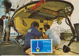 "Carte-Maximum FRANCE N°Yvert 2129 / Fonds Marins, Engin Submersible ""CYANA"" - Maximum Cards"