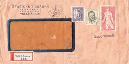 CZECHOSLOVAKIA - RECO 1955 VELKY SENOV > BAD DRIBURG /AS216 - Briefe U. Dokumente
