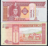 MONGOLIA P62 20 Tugrik 2014 Unc. - Mongolia