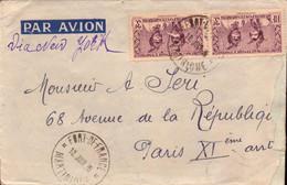Lettre, Martinique, Fort De France Via New-york Pour Paris        (bon Etat) - Postmark Collection (Covers)