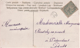 Cachet OR Blanc Cp Fleurs - Postmark Collection (Covers)
