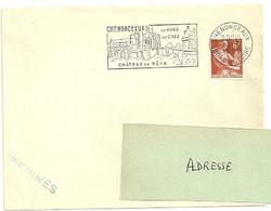 INDRE & LOIRE - Dépt N° 37 = CHENONCEAUX 1958 = FLAMME Non Codée = SECAP Illustrée 'CHATEAU De REVE / Bord Du CHER ' - Postmark Collection (Covers)