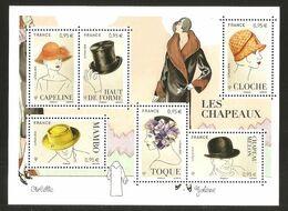 2018 - Bloc Feuillet F 5277 LES CHAPEAUX NEUF** LUXE MNH - Sheetlets
