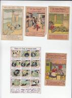 Illustrateur Animalier Benjamin Rabier / Gags D'animaux /  Lot De 5 Images Anciennes / Voir état - Kaufmanns- Und Zigarettenbilder