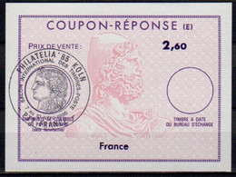 FRANCE Reply Coupon Reponse (E) Type Ex12Antwortschein IAS 2,60 Issued PHILATELIA KÖLN 85 PTT FRANCE 7 Au 10 NOV 1985 - Postal Stamped Stationery
