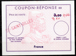 FRANCE Reply Coupon Reponse (E) Ex12 Antwortschein 3,60 / 3,50 / 3,20 o 30 SAINT GILLES - Coupons-réponse