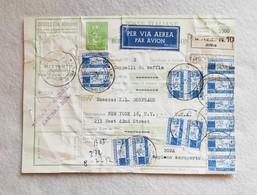 Cedoletta (Coupon) Spedizione Per Via Aerea Da Lastra A Signa Per New York Via Roma 1957 - Postpaketten