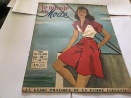 Magazine Le Miroir De La Mode 1948 Mode Modèle Bain De Soleil Fête Nationale - Autres
