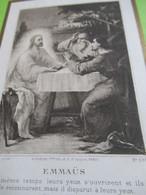 Image Religieuse/ Emmaüs/1ére Communion/Chapelle LYCEE HOCHE/Jean  Parisot/VERSAILLES/1909  IMPI50 - Religion & Esotérisme