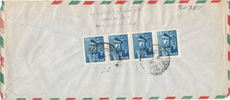 Iran Air Mail Cover Sent To Austria All Stamps Are On The Backside Of The Cover - Iran