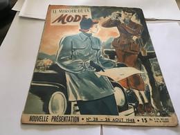Magazine Le Miroir De La Mode 1948 Mode Modèle Notre Patron Gratuit Une Jupe Un Chemisier - Autres