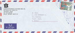 Iran Air Mail Cover Sent To Germany Single Franked - Iran