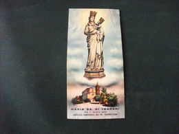 SANTINO HOLY CARD MARIA SS DI TRAPANI ATTACCATO AD UN GIORNALE RIFILATO - Religion & Esotérisme