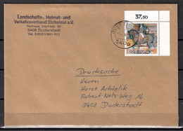 BRD; MiNr. 1594, Sporthilfe: Olympische Spiele, Dressurreiten, Auf Portoger. Drucksache In Duderstadt; C-23 - [7] Federal Republic
