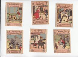 Illustrateur Animalier Benjamin Rabier / Gags / Lot De 13 Images Anciennes / Pub Chicorée Bonzelvoir état Versos - Cromos