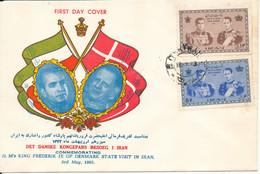 Iran FDC 3-5-1963 Visit Of The Danish King Frederik IX With Cachet - Iran