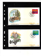 Europa 1984 - Norway - Bjerring Sleigh Car 1918 - Invicta 1931 - FDC
