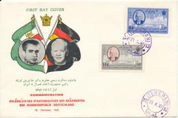 Iran FDC 23-10-1963 Visit Of The German President Lübke With Cachet - Iran
