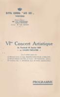 VERVIERS 1935 Royal Choral  LES XXI Concert Au Grand Théatre - Programmes
