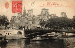 CPA Tout Paris - 82 - Hotel-de-Ville, 4e (75841) - Arrondissement: 04