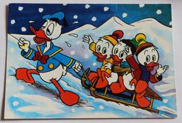 CPSM Walt Disney Donald Duck Fait De La Luge Riri Fifi Et Loulou - Autres