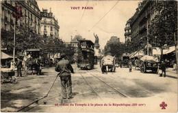 CPA Tout Paris - 98 - Rue Du Temple A Ls Plsce De La Republique, 3e (75961) - Arrondissement: 03