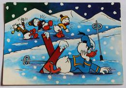 CPSM Walt Disney Donald Duck Fait Du Ski Riri Fifi Et Loulou - Autres