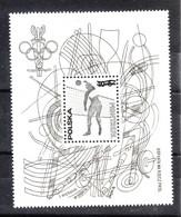Polonia  - 1976.  Volley: Foglietto Speciale . Iscrizioni Nere. Special Sheet. Black Inscriptions. RARE! - Estate 1976: Montreal