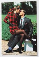 Carte Postale Mode Daniel Hechter Collection 1987 1988 Jeune Femme En Bas - Moda