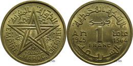 Maroc - Protectorat Français - Mohammed V - 1 Franc 1945-AH1364 - SUP - Mon3414 - Marocco