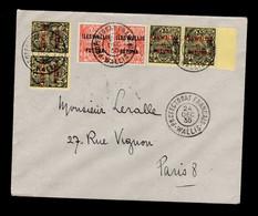 """Wallis Et Futuna - Lettre """"protectorat Français"""" De La Veille De Noel 1935 Pour Paris Avec YV 23 (paire) & 10 (2 Paires) - Covers & Documents"""
